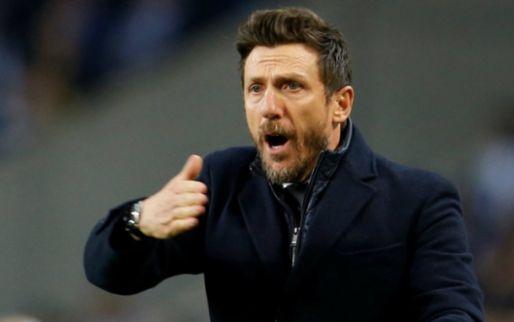 Afbeelding: Roma-trainer Di Francesco vlucht bus in na uitschakeling en riskeert boete UEFA
