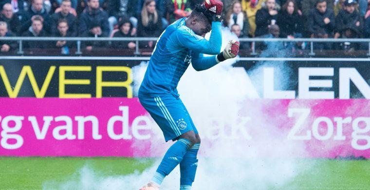 Ook KNVB straft man die zwaar vuurwerk gooide naar Ajax-doelman Onana
