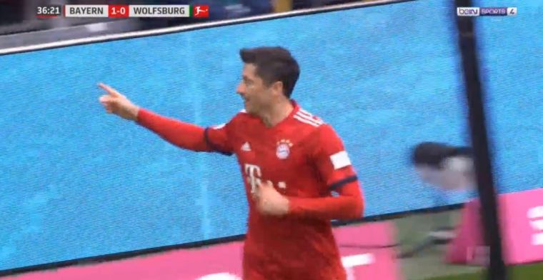Ongenaakbare Lewandowski noteert nummer 196 en schrijft Bundesliga-historie