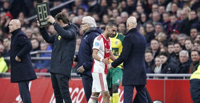 Update: 'Tegenvaller voor Ajax: De Jong mist duel met PEC; Ziyech nog onzeker'