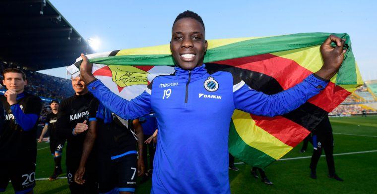 Slecht nieuws voor Club Brugge: 'Nakamba heeft een scheurtje opgelopen'