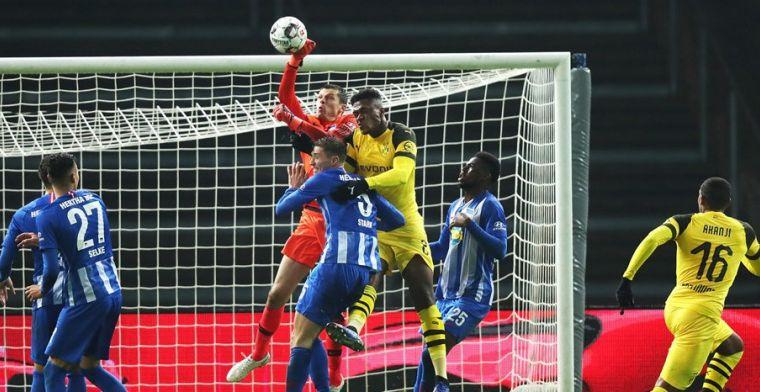 Dortmund, zonder Witsel, komt met de schrik vrij tegen Hertha BSC