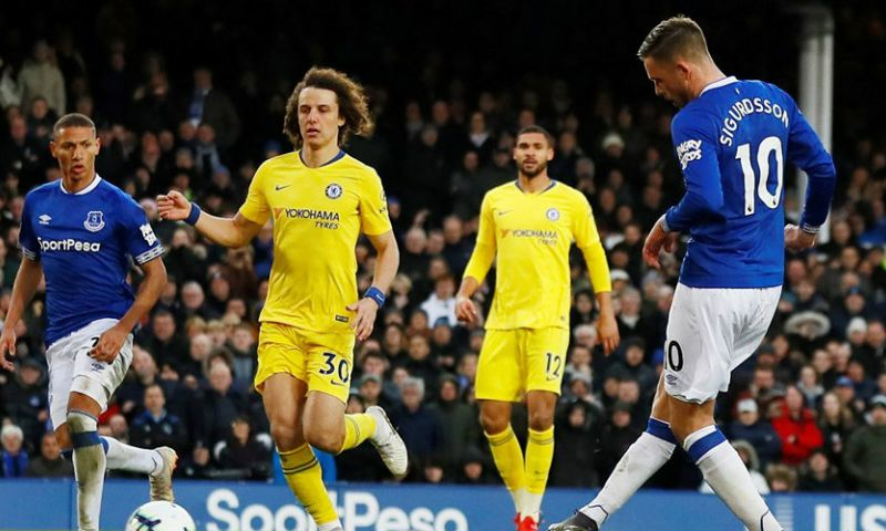 Afbeelding: Doffe dreun op Goodison Park voor Chelsea: plek 6 in plaats van plek 4