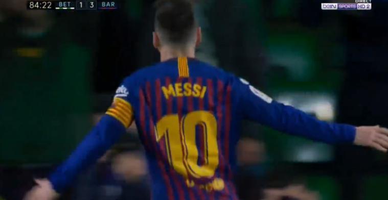 Onvoorstelbaar: Messi maakt hattrick voor Barcelona, publiek Real Betis staat op
