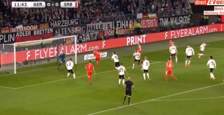 Verrassend: Duitsland staat aan de rust 0-1 achter tegen Servië