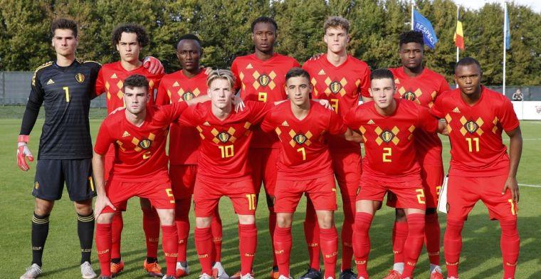 Openda helpt België U19 met twee strafschoppen aan gelijkspel tegen Italië