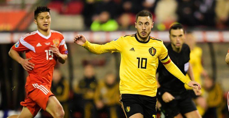 Hazard wist Blunder van Courtois uit, Rode Duivels starten met zege