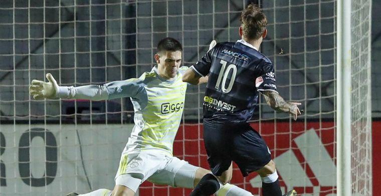 Geduldige Jong Ajax-doelman: 'Ik hoop dat ik nog vaker met Van der Sar kan praten'