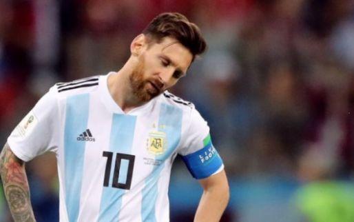 Afbeelding: Argentinië stelt ook met Messi in de gelederen teleur en verliest oefenduel