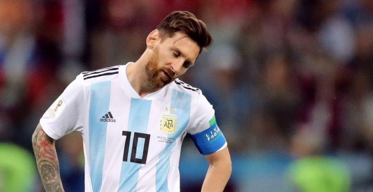 Argentinië stelt ook met Messi in de gelederen teleur en verliest oefenduel
