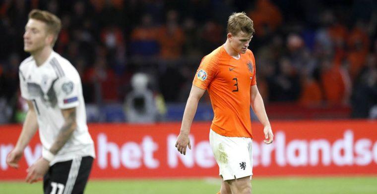 De Ligt leert van Duitsland: 'Normaal gesproken niet tegen zulke snelle spelers'