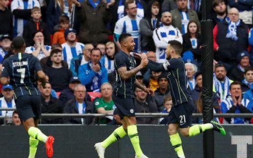 Afbeelding: Man City rekent af met Brighton & Hove Albion en blijft dromen van vijf prijzen