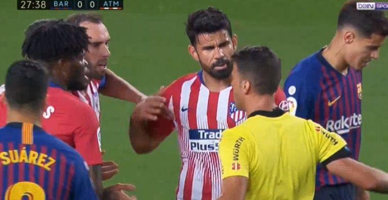 Rode kaart Costa tegen Barça verklaard: 'Ik schijt op je ho*r van een moeder'