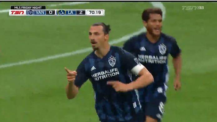 Zlatan gaat als de bliksem: assist en doelpunt voor winnend LA Galaxy