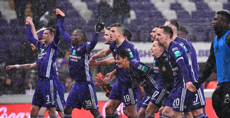 Anderlecht-fans hebben opvallende boodschap na verlies tegen Club Brugge