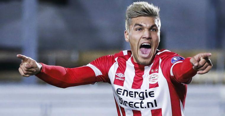 PSV legt gewilde spits langer vast: 'Ik zit hopelijk niet ver van de basis'