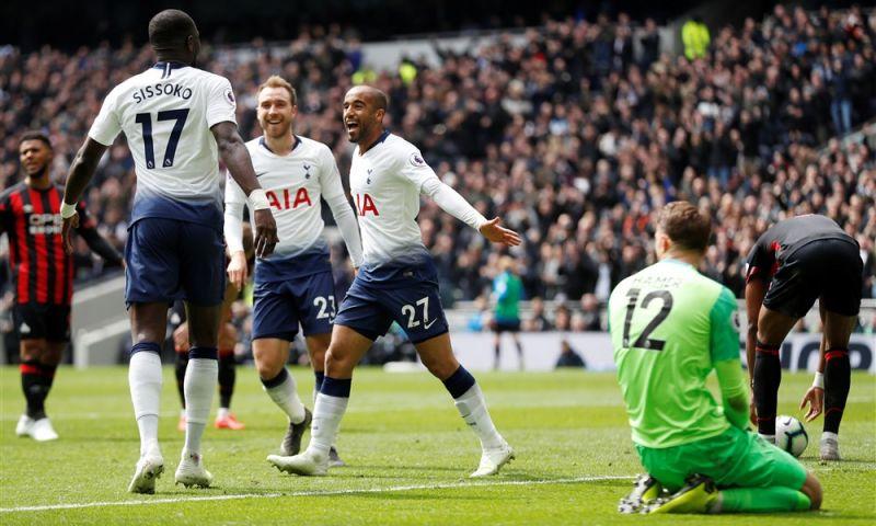 Afbeelding: Moura staat op bij absentie Kane: Spurs wint ruim en kan blik op City richten