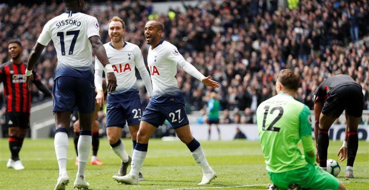 Moura staat op bij absentie Kane: Spurs wint ruim en kan blik op City richten