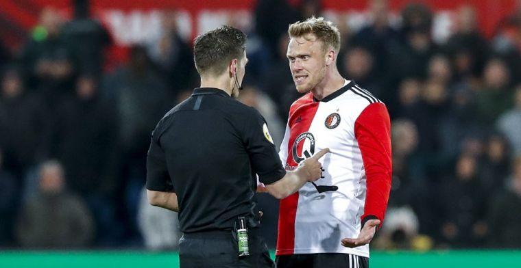 Feyenoord wint tumultueuze wedstrijd ondanks rode kaart voor Jörgensen