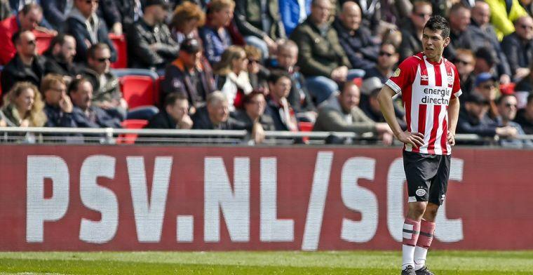 Lozano versiert penalty voor PSV: Scheidsrechters trappen er altijd in