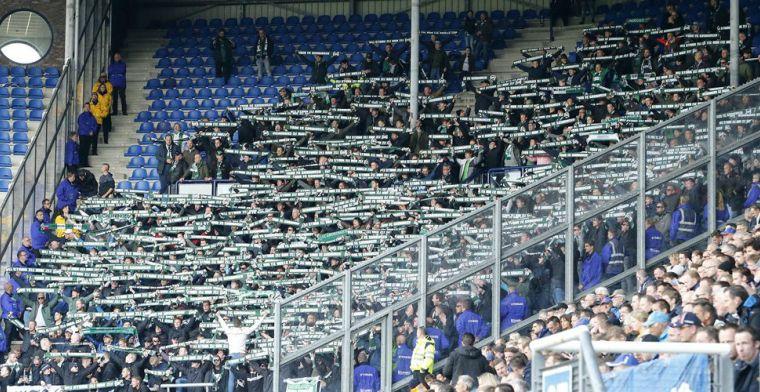 Update: FC Groningen-fan aangehouden na gooien van vuurwerk in Heerenveen-vak