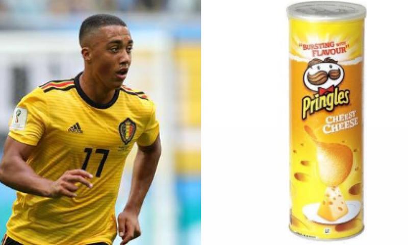 Afbeelding: Geweldig: Youri Tielemans wordt op Twitter vergeleken met ... een doos Pringles