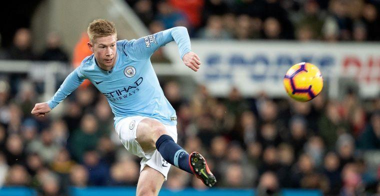 Domper voor Manchester City: De Bruyne met blessure naar de kant