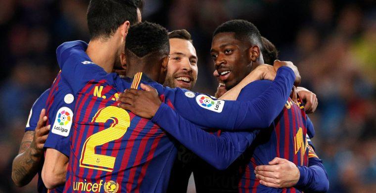 Barcelona doorstaat Champions League-vermoeidheid en kan landstitel ruiken