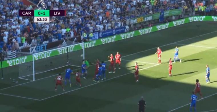 Hoe dan!? Cardiff-speler verprutst gigakans voor open doel tegen Liverpool
