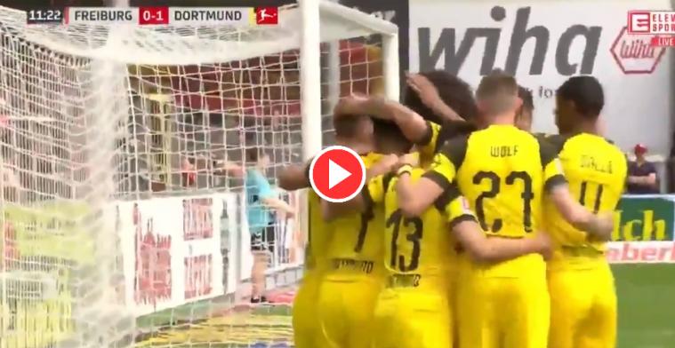 KLASSE! Witsel ziet Dortmund-ploeggenoten verdediging van Freiburg dol draaien