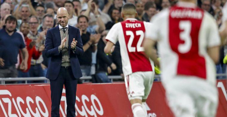 Ajax scoort vier keer en verslaat Vitesse ondanks kamikazewissel Ten Hag