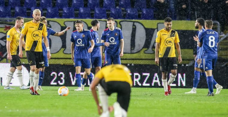 NAC is kansloos tegen Feyenoord en staat op rand van Eredivisie-degradatie