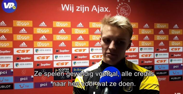 Odegaard heeft bewondering voor Ajax: De hele wereld is onder de indruk