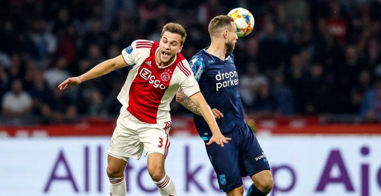 Veltman ziet Ajax-collega worstelen: 'Het komt er niet uit, het loopt niet'