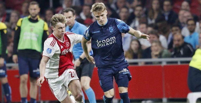'Ajax concurreert met 'kapitaalkrachtige clubs' om handtekening van Odegaard'