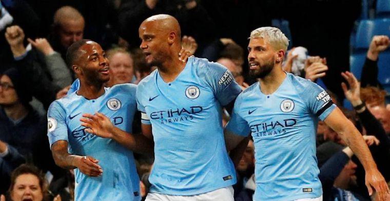 Manchester City heeft nog één zege nodig na thriller tegen Leicester