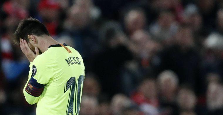 'Huilende Messi achtergelaten door spelersbus; clash met fans op vliegveld'
