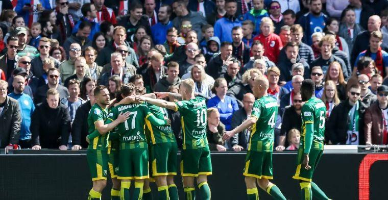Feyenoord gaat kopje onder tegen ADO bij afscheid Van Persie en Van Bronckhorst