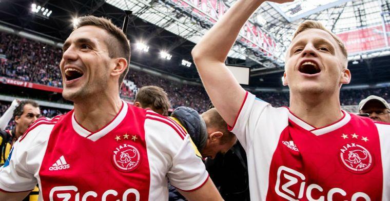 Tadic roemt Ajax-maatje: 'Hij is nog beter op zijn voeding gaan letten'