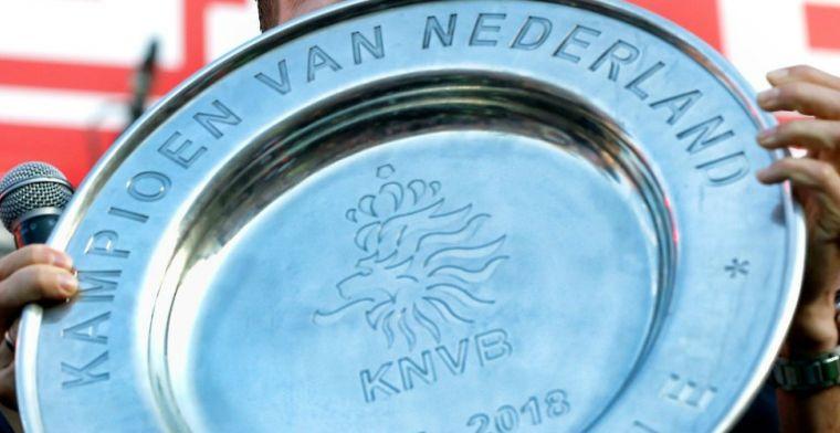 KNVB laat niets aan toeval over en reist met kampioensschaal naar Eindhoven