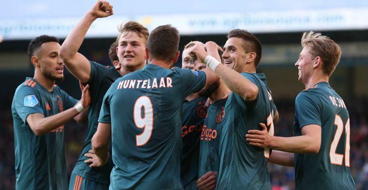 Ajax zet kroon op succesjaar: 34ste landstitel en eerste dubbel sinds 2002