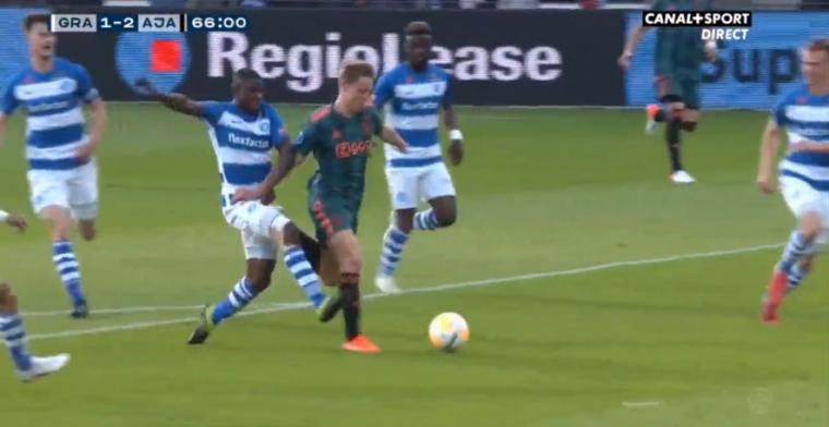 Scorende Tadic nadert Luuk de Jong na geniale rush Frenkie de Jong