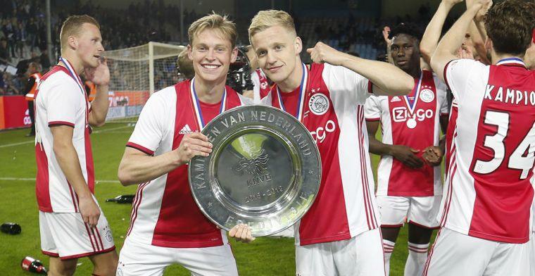 Frenkie de Jong wijst op 'cruciaal punt' voor Ajax Dat was een tik voor PSV