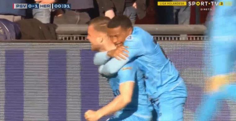Desastreuze start voor PSV: na 25 seconden 0-1 achter in Eindhoven