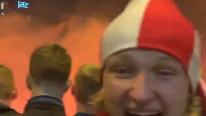 Aangeschoten Dolberg en Neres slaan vreugdekreten uit na titel Ajax