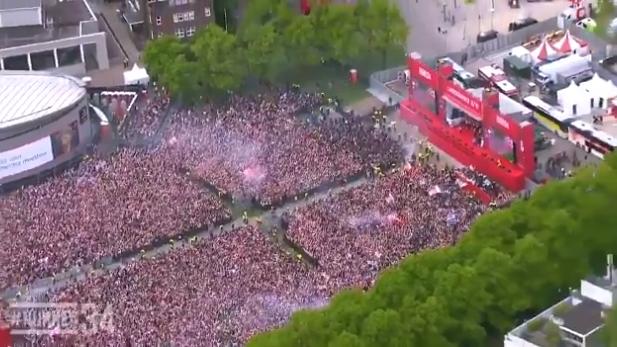 Manchester City uitgelachen, feestend Ajax gaat viral: 'Spot the club with a soul'