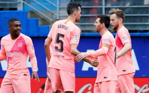 Afbeelding: Barcelona eindigt met remise na foutjes Cillessen en dubbelslag Messi