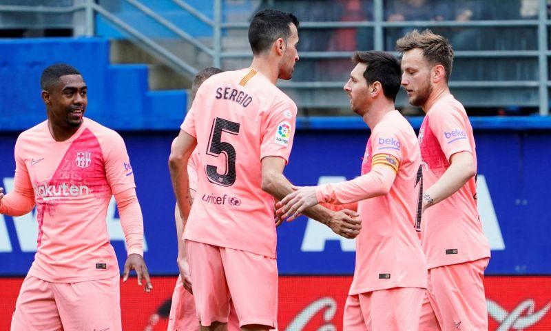 Afbeelding: Barcelona eindigt met gelijkspel na foutjes Cillessen en dubbelslag Messi