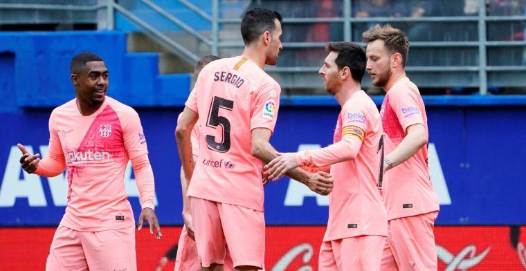 Barcelona eindigt met remise na foutjes Cillessen en dubbelslag Messi