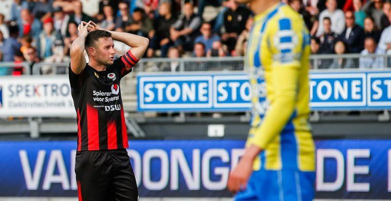 Excelsior wint niet van RKC en degradeert na vijf seizoenen uit Eredivisie